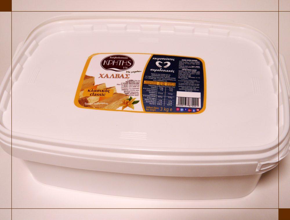Χαλβάς κλασικός από τη Χαλβαδοποιία Κρήτης 3 kg